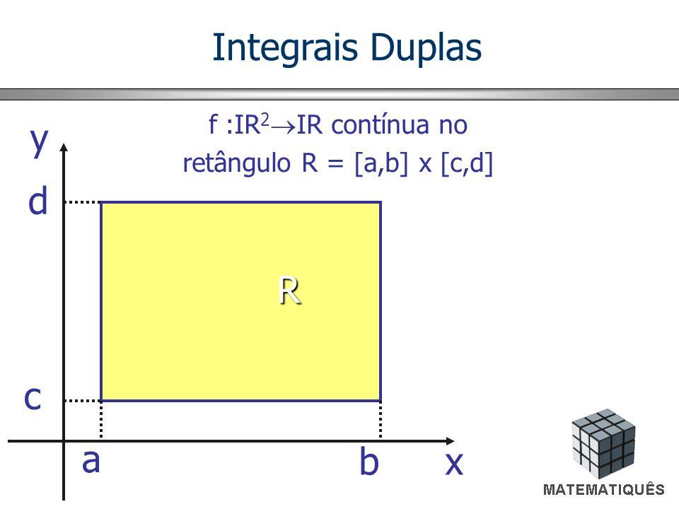 retângulo R = [a,b] x [c,d]